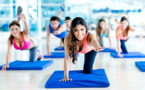Effective female fitness training to reduce body weight.